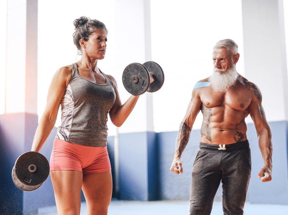 Seniors Weight Lifting
